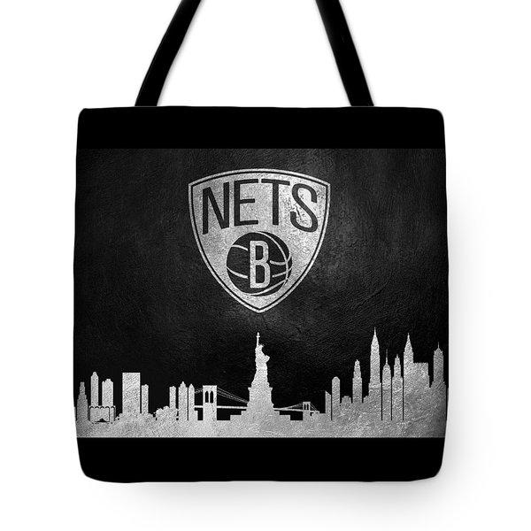 Brooklyn Nets Skyline Tote Bag