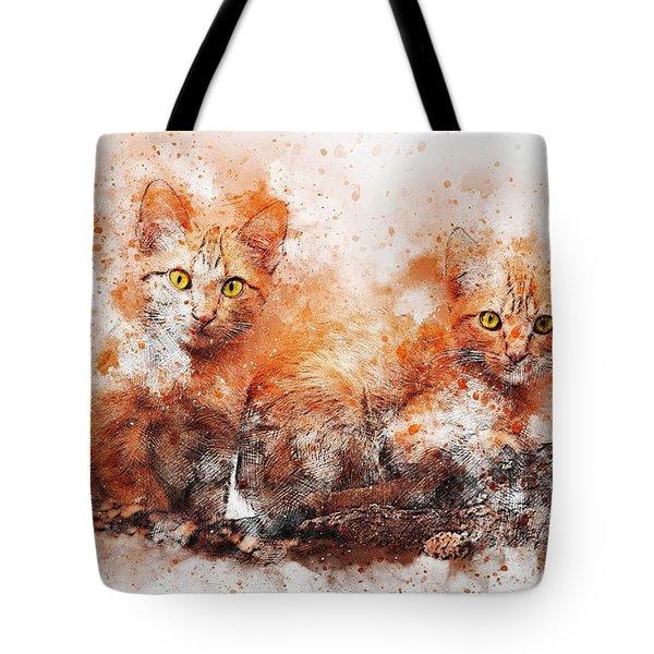 Brothers Cat Tote Bag