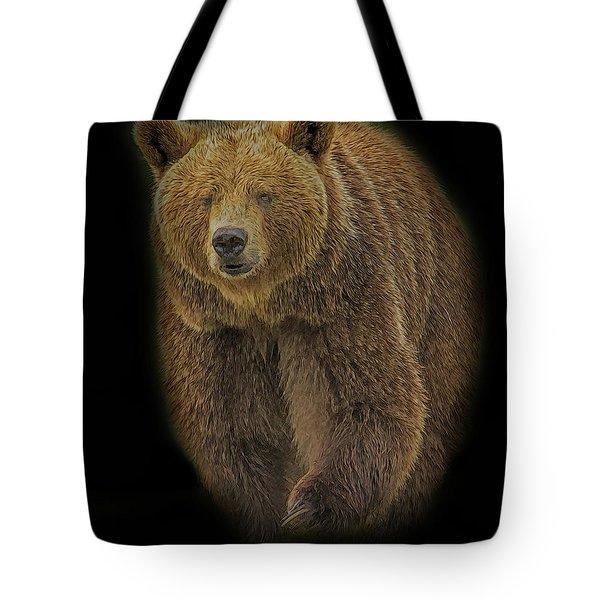 Brown Bear In Darkness Tote Bag