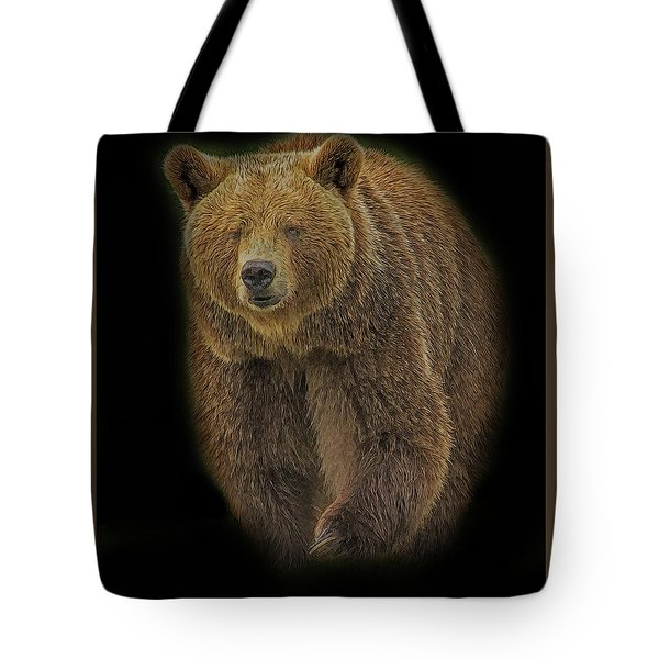 Brown Bear In Darkness Tote Bag