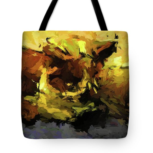 Brown Cat On The Cushion Tote Bag