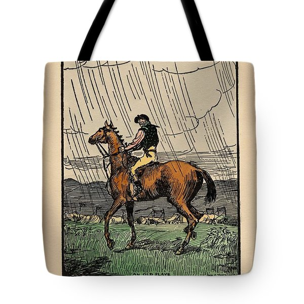 Tote Bag featuring the painting Brown Stallion, Omey by Val Byrne