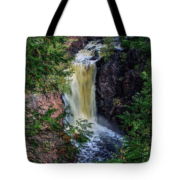 Tote Bag featuring the photograph Brownstone Falls by Dawn Richards