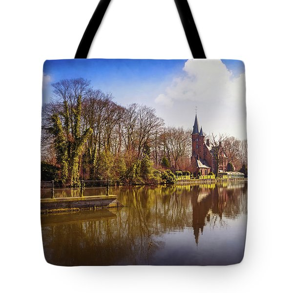 Bruges Belgium Minnewater Lake  Tote Bag