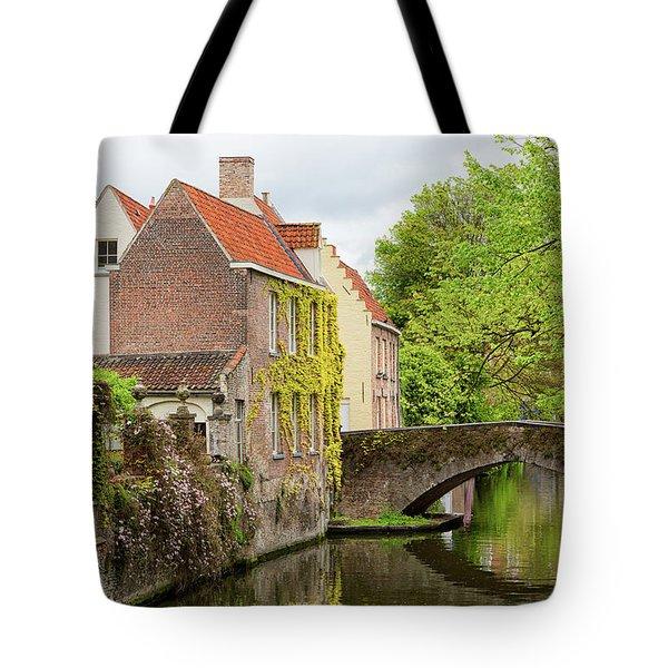 Bruges Footbridge Over Canal Tote Bag