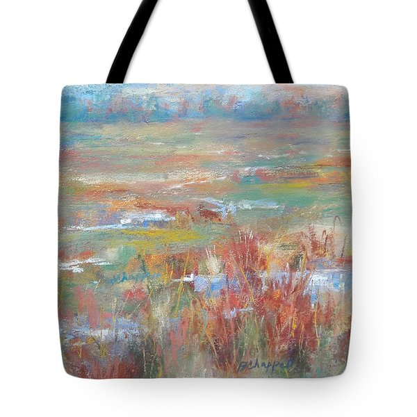 Brush Creek In Abstract Tote Bag