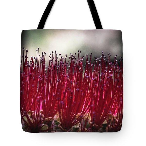 Brush Flower Tote Bag