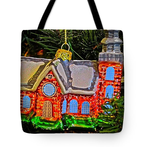 Tote Bag featuring the photograph Bruton Parish Church by Don Moore