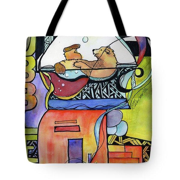 Bubble Bath Bear Tote Bag