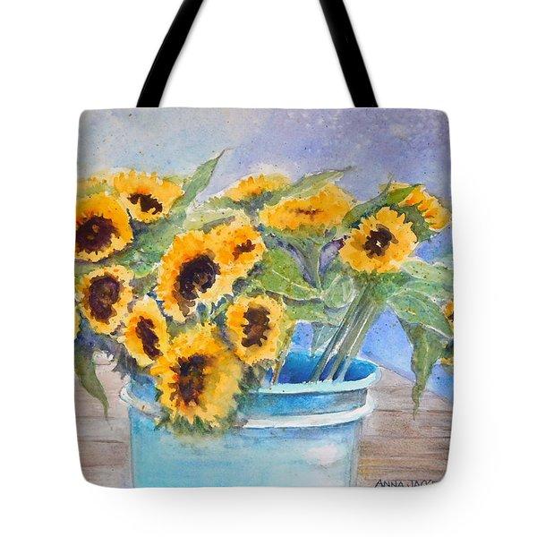 Bucket Of Sunflowers Tote Bag