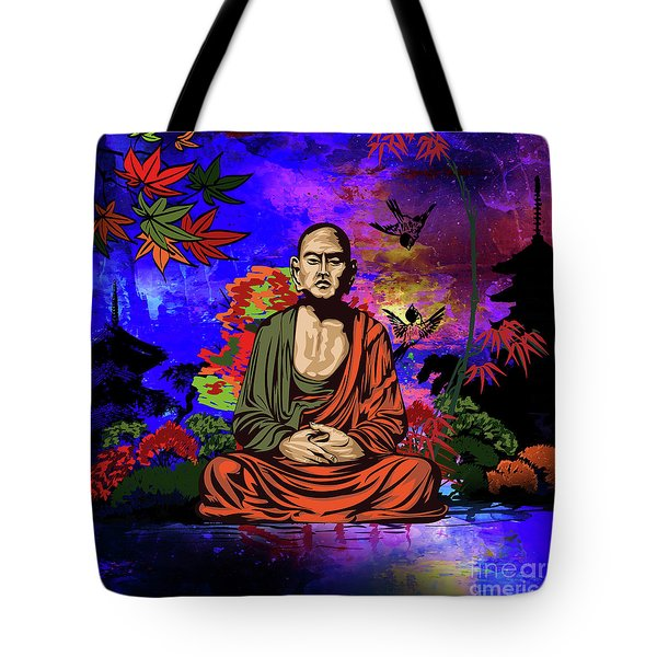 Buddhist Monk. Tote Bag