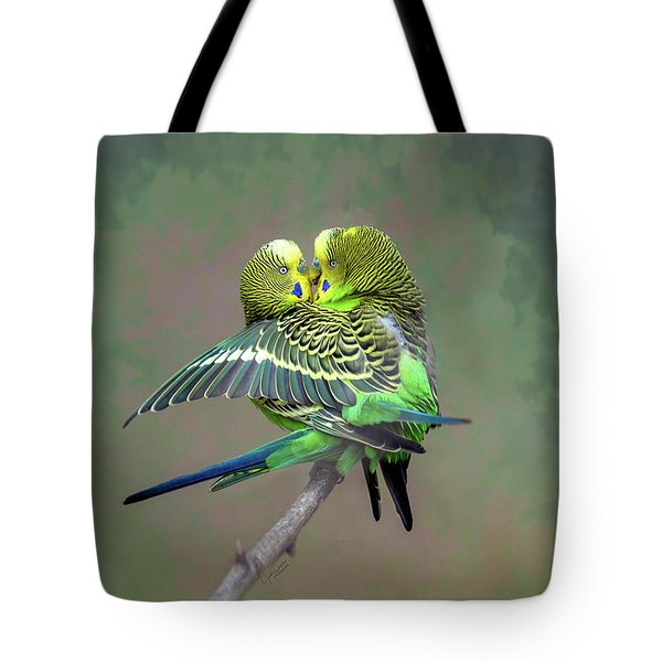 Budgie Love Tote Bag