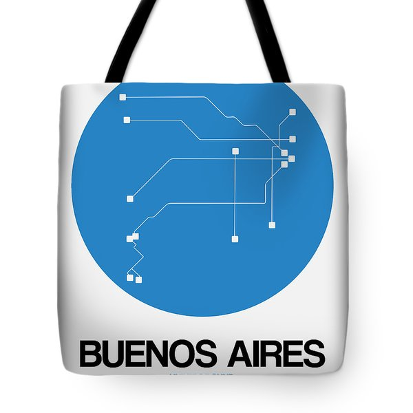 Buenos Aires Blue Subway Map Tote Bag