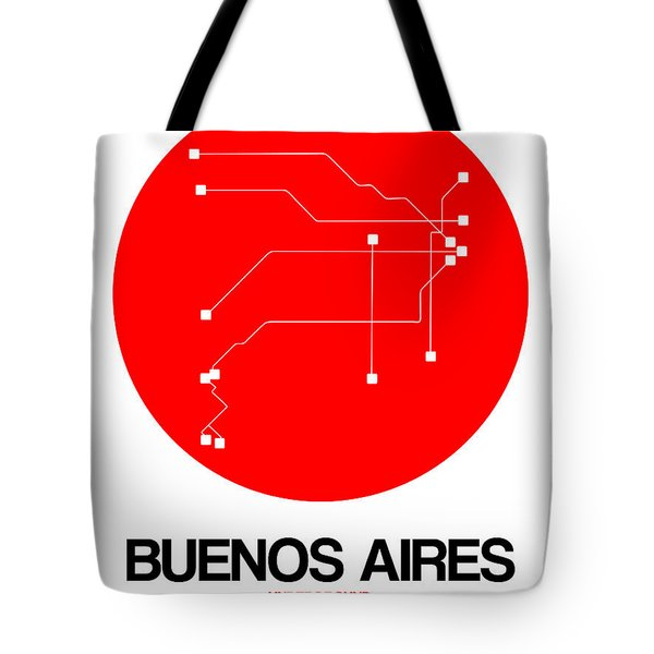 Buenos Aires Red Subway Map Tote Bag