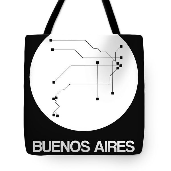 Buenos Aires White Subway Map Tote Bag
