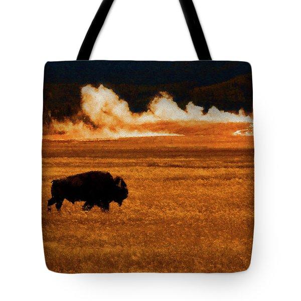 Buffalo Fire Sunset Tote Bag