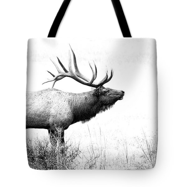 Bull Elk In Rut Tote Bag