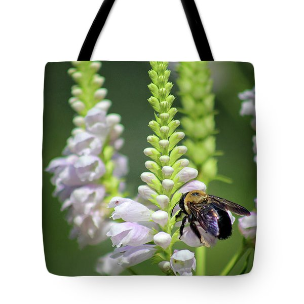 Bumblebee On Obedient Flower Tote Bag