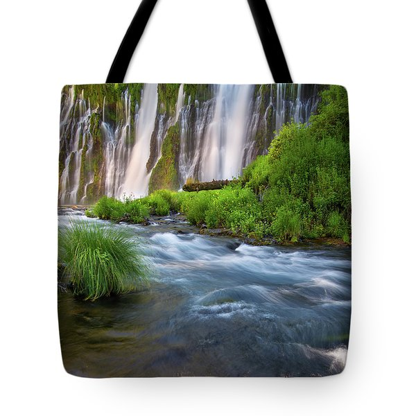 Tote Bag featuring the photograph Burney Falls by Leland D Howard