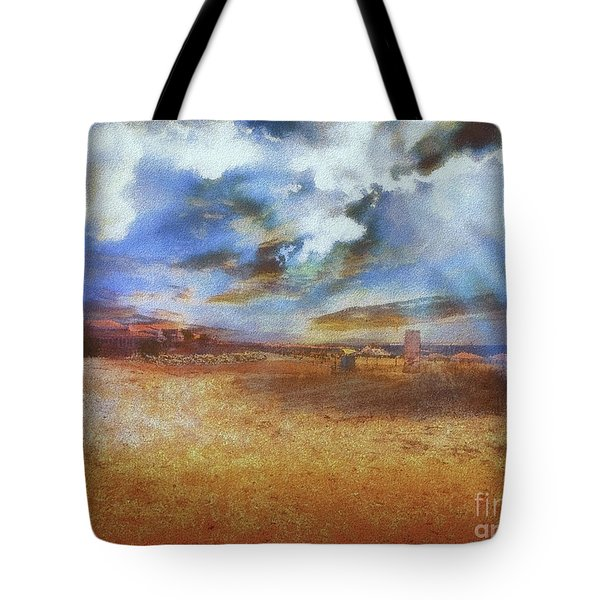 Tote Bag featuring the photograph Burning Sand  by Leigh Kemp