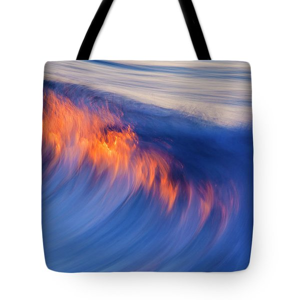 Burning Wave Tote Bag