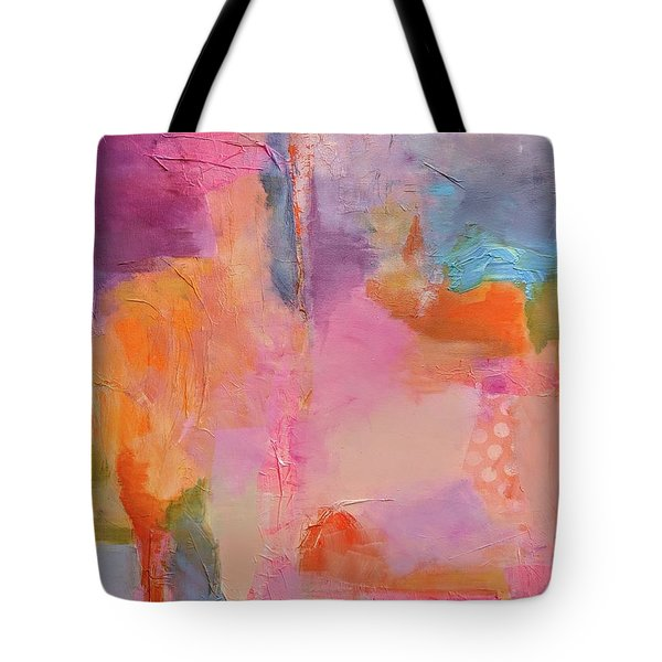 Tote Bag featuring the painting Burst Of Spring by Jillian Goldberg