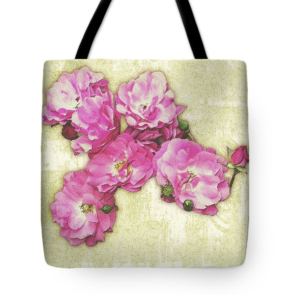 Bush Roses Painted On Sandstone Tote Bag
