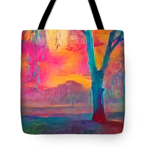 Bush Sunset  Tote Bag