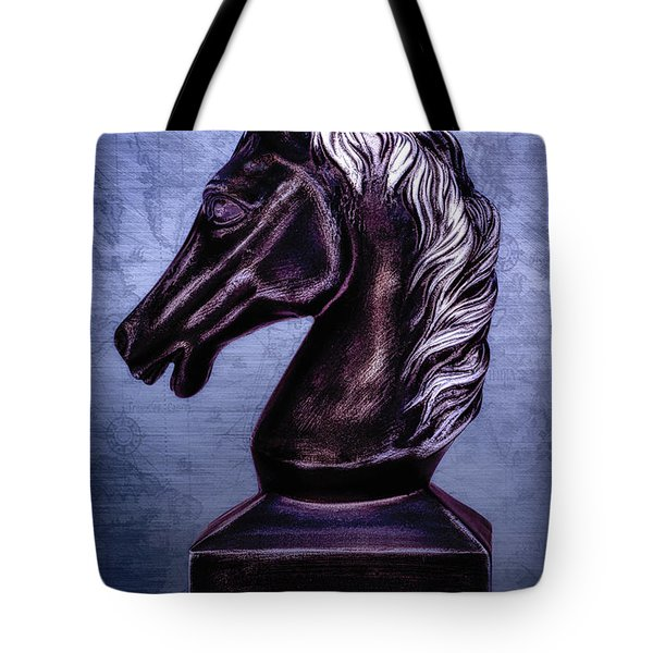 Bust Of The Black Knight Tote Bag