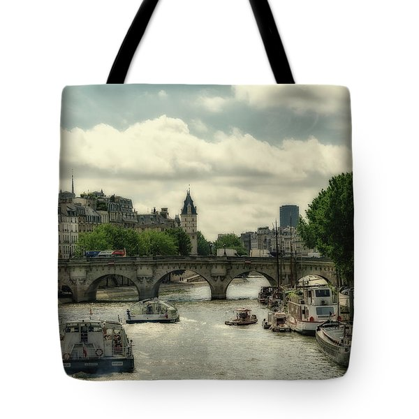 Busy Morning On The Seine Tote Bag