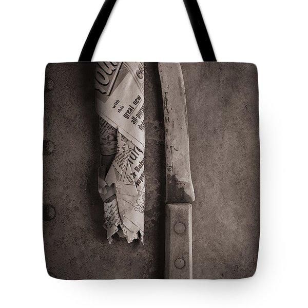 Butcher Knife And Sheath Tote Bag
