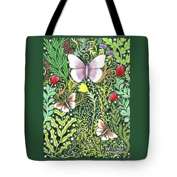 Butterflies In The Millefleurs Tote Bag