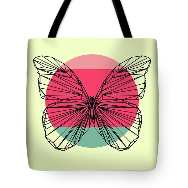 Butterfly And Sunset Tote Bag