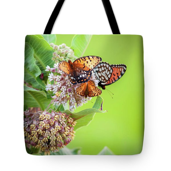 Tote Bag featuring the photograph Butterfly Buffet II by Jeff Phillippi
