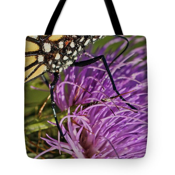 Butterfly Closeup Vertical Tote Bag