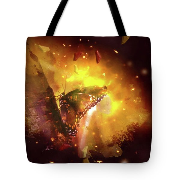 Butterfly Color Explosion. Tote Bag