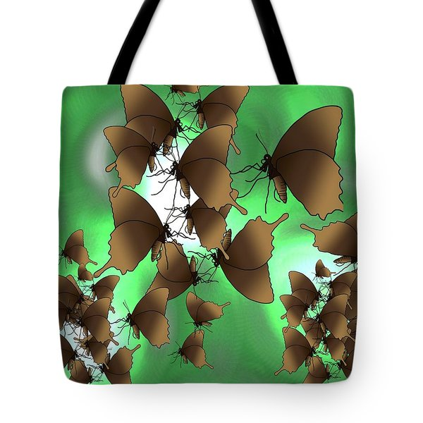 Butterfly Patterns 15 Tote Bag