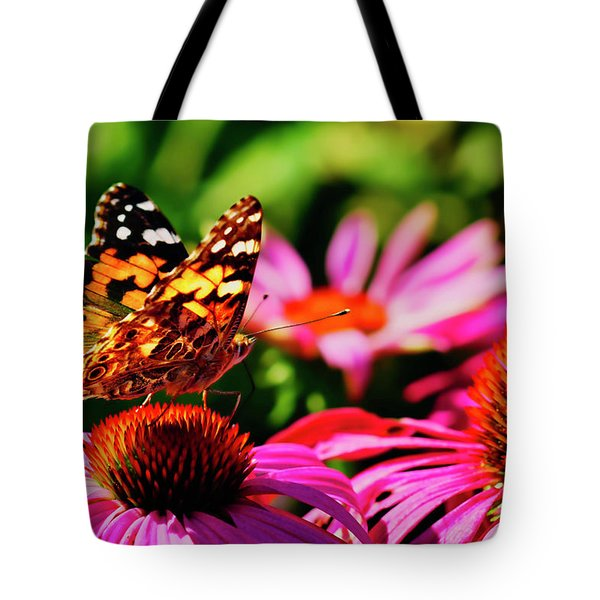 Tote Bag featuring the photograph Butterfly Side by Meta Gatschenberger