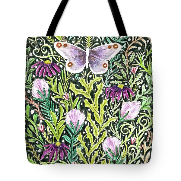 Butterfly Tapestry Design Tote Bag
