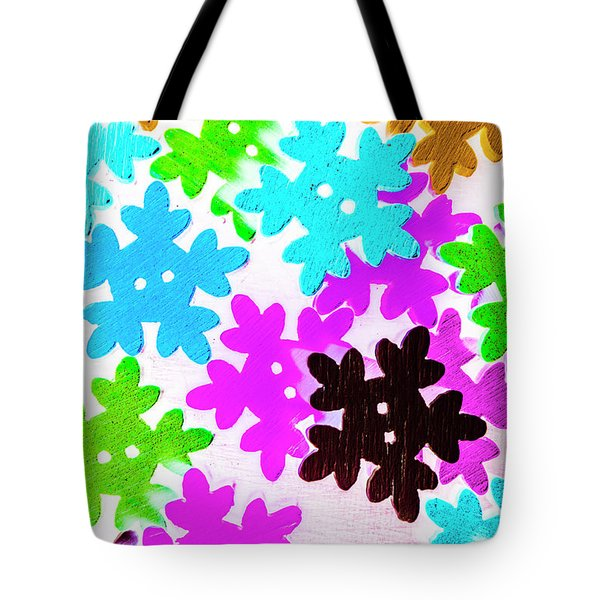 Button Blizzard Tote Bag