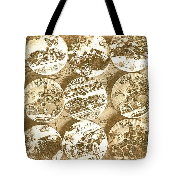 Button Roadhouse Tote Bag