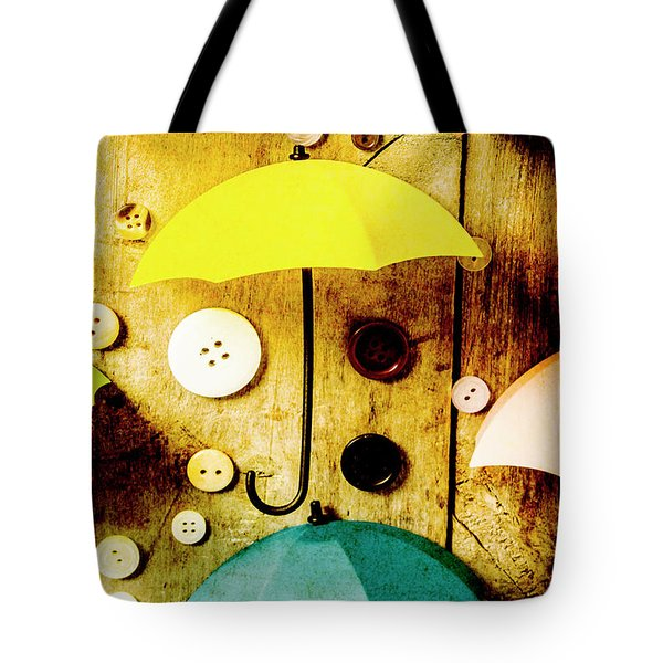 Button Storm Tote Bag
