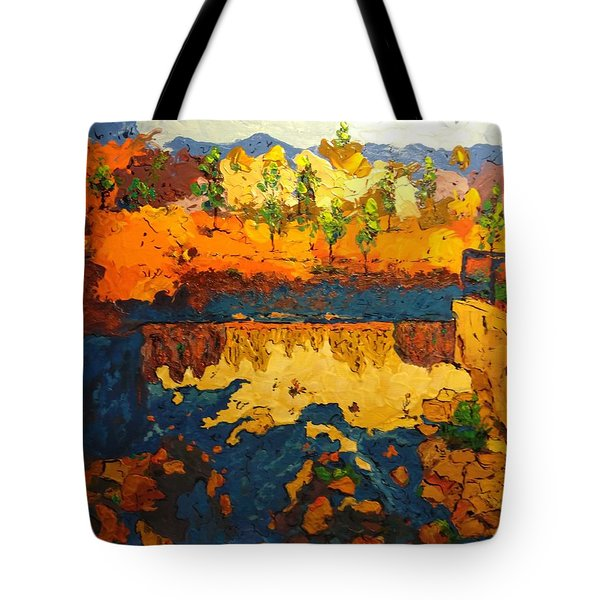 By The Basin Tote Bag