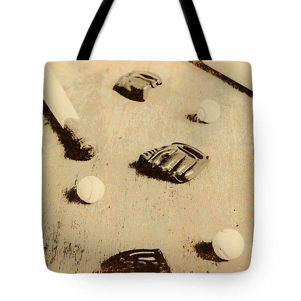Bygone Baseball Tote Bag