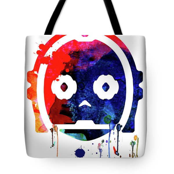 C-3po Watercolor Cartoon Tote Bag