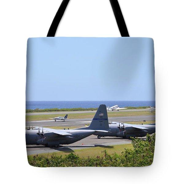 C130h At Rest Tote Bag