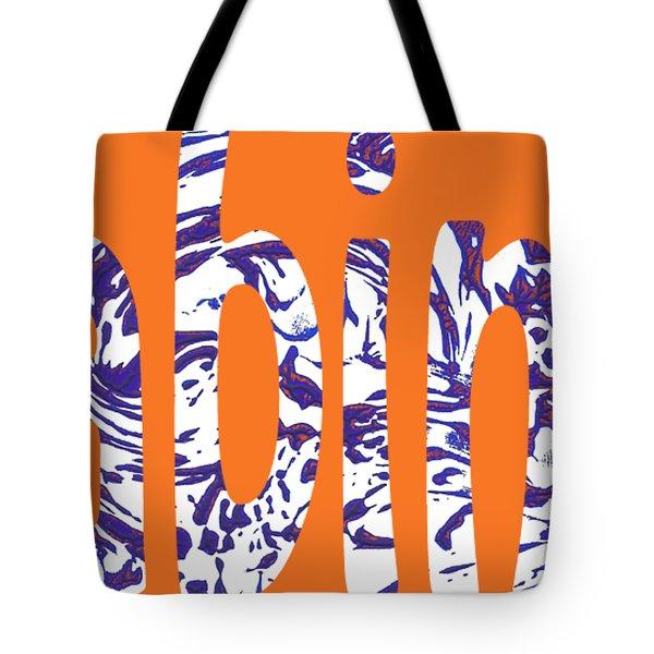 Cabin 7 Blue White Orange Tote Bag