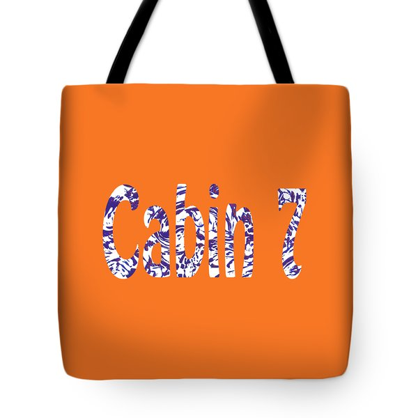 Cabin 7 Blue White Orange Tote Bag