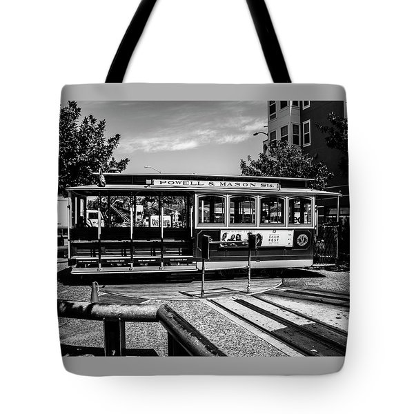 Cable Car Turn Around Tote Bag