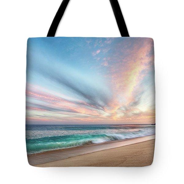 Cabo San Lucas Beach Wave Sunset Tote Bag
